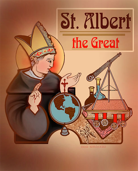 Image result for st albert the great symbols